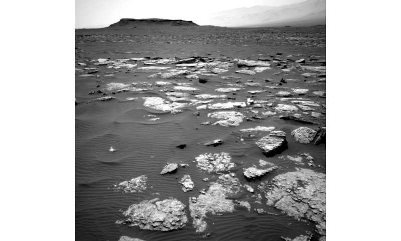 Mars Curiosity rolls up to potential new meteorite