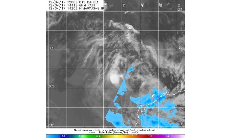 NASA finds Tropical Depression Dahlia's center devoid of rainfall