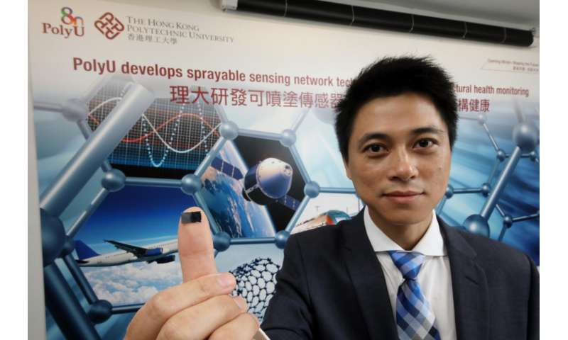 PolyU develops sprayable sensing network technology for structural health monitoring