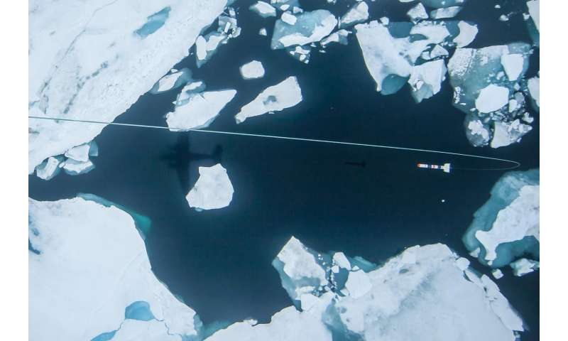 Arctic sea ice once again shows considerable melting