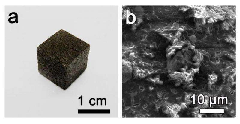 Chemists create 3-D printed graphene foam