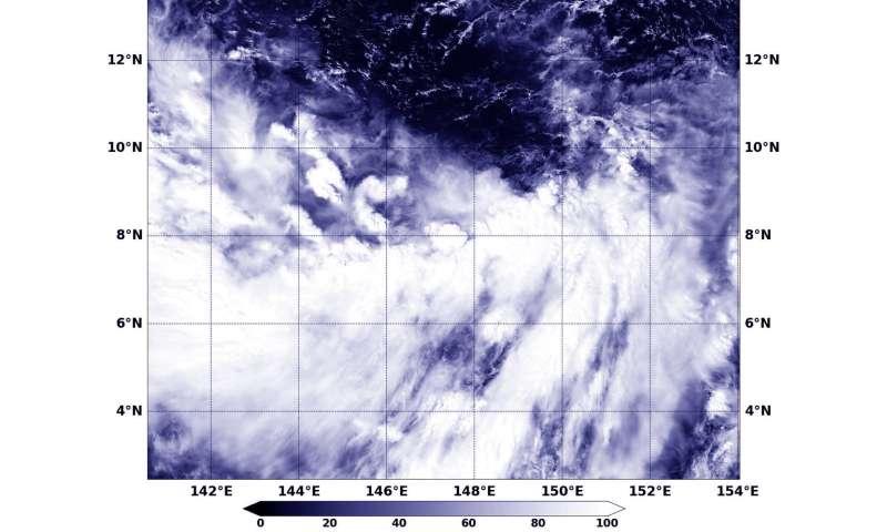 NASA sees Tropical Depression 27W still struggling
