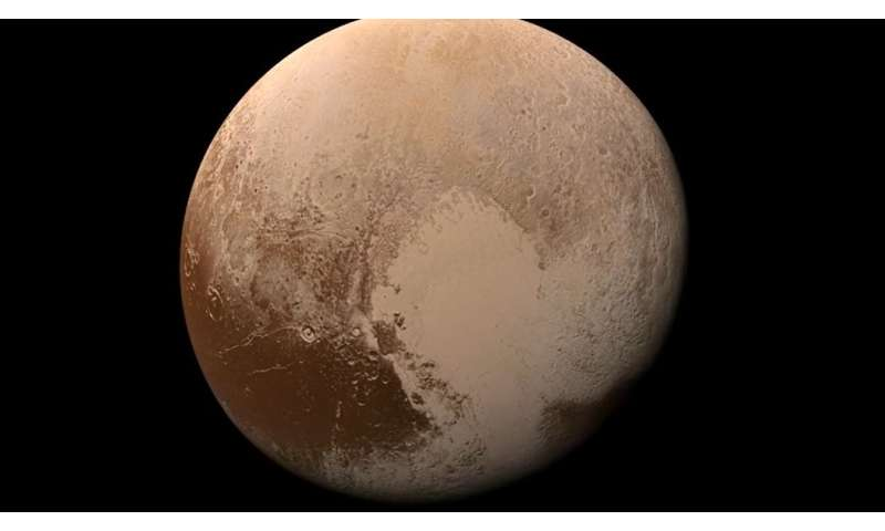 Video: A colorful 'landing' on Pluto