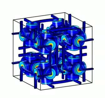 Growth under pressure: New metamaterial designed with counterintuitive property