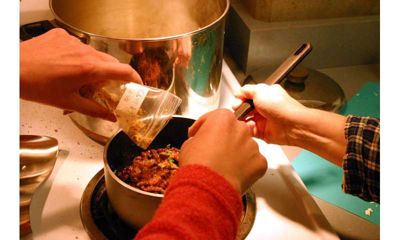 Want to better comply with dietary guidelines, and save money? Cook dinner at home