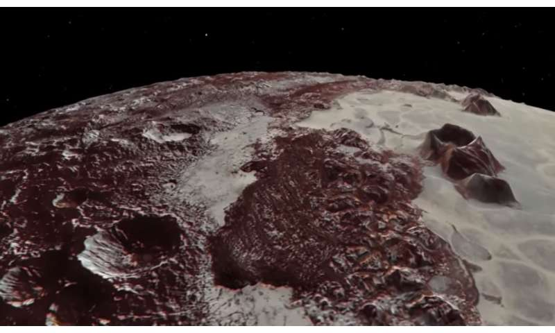 Video: Flyover of Pluto's majestic mountains and icy plains