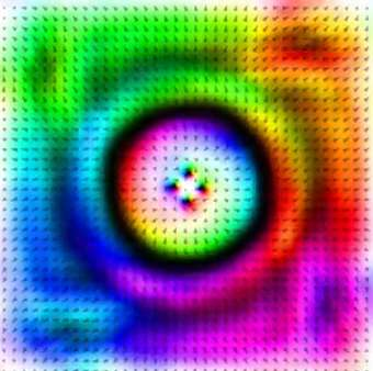 Pulses of electrons manipulate nanomagnets and store information