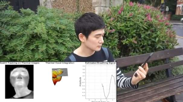 New software turns mobile-phone accessory into breathing monitor