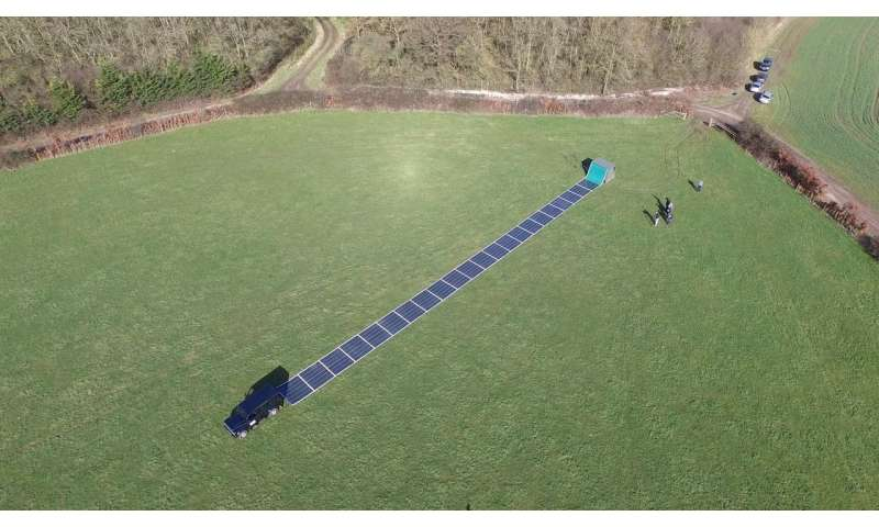 Power system takes portable approach with roll-up solar panels