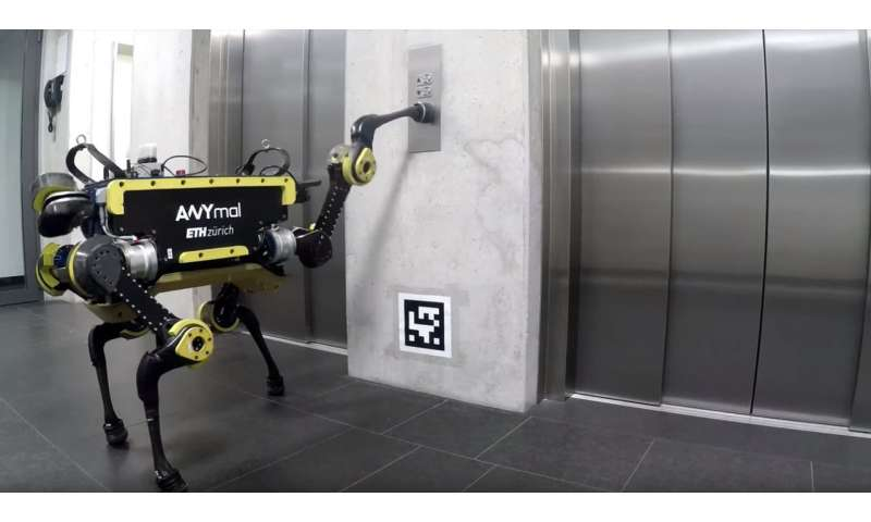 ANYmal takes the elevator instead of stairs (you showoff)