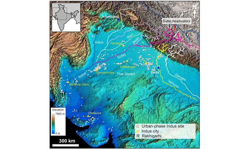Scientists show how Himalayan rivers influenced ancient ... on iberian peninsula on a world map, rain on a world map, goa on a world map, persian empire on a world map, himalayan mountains on a world map, former ussr on a world map, sumer on a world map, mesoamerica on a world map, arabian gulf on a world map, carpathian mountains on a world map, maya on a world map, athena on a world map, taklamakan on a world map, taj mahal on a world map, central asia on a world map, aleutians on a world map, south america on a world map, babylon on a world map, inca on a world map, bombay on a world map,