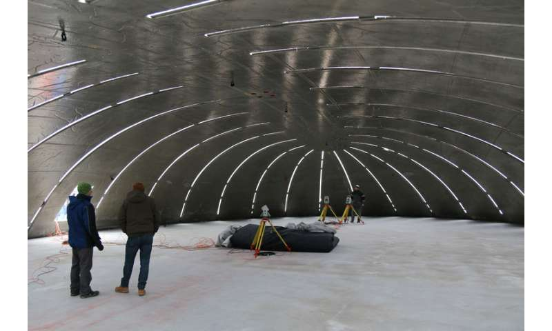 How to inflate a hardened, 80-ton concrete shell
