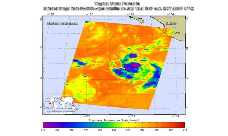 NASA sees formation of Tropical Storm Fernanda in Eastern Pacific Ocean