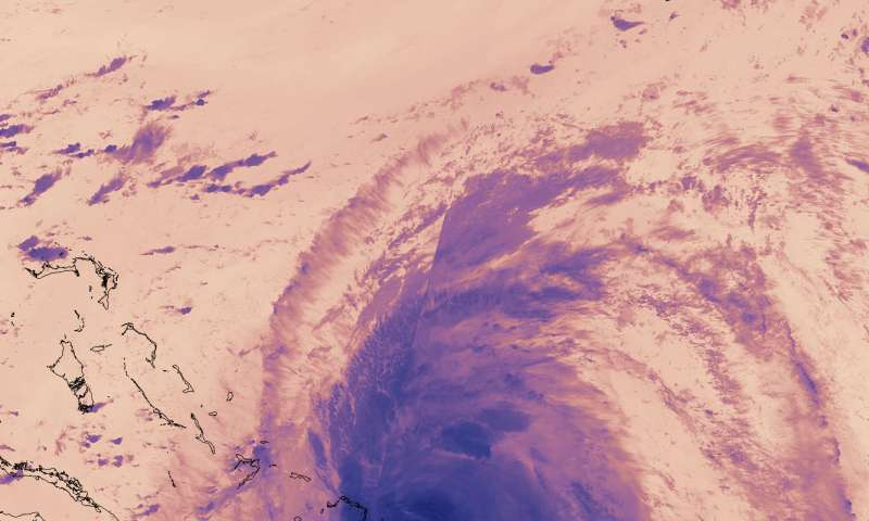 NASA tracking Hurricane Maria on Bahamas approach