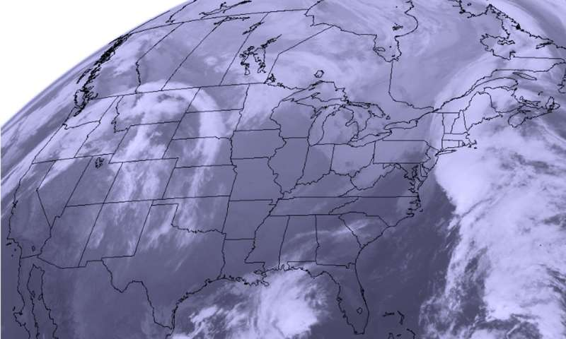 Satellite shows storms on both US coasts for Thanksgiving travelers