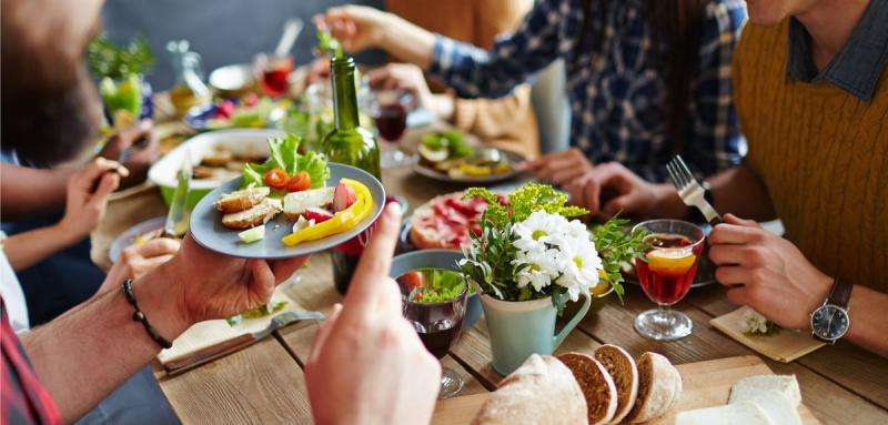 Study finds the more often people eat with others, the more likely they are to feel happy and satisfied with their lives