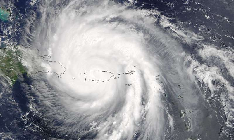 NASA measures Hurricane Maria's torrential rainfall, sees eye re-open