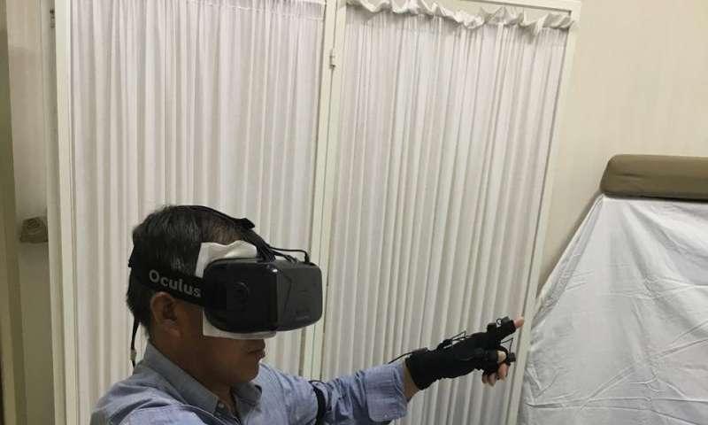 Virtual reality eases phantom limb pain