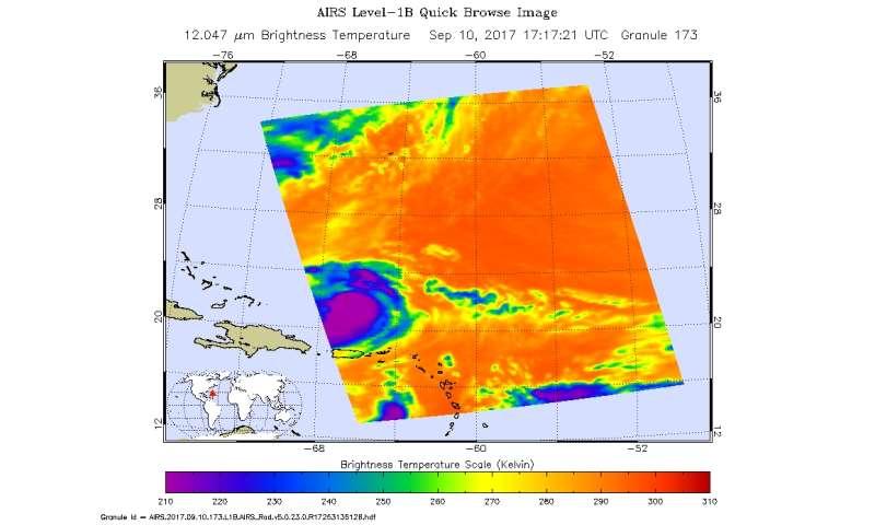 NASA analyzes Hurricane Jose's hidden cloud-filled eye