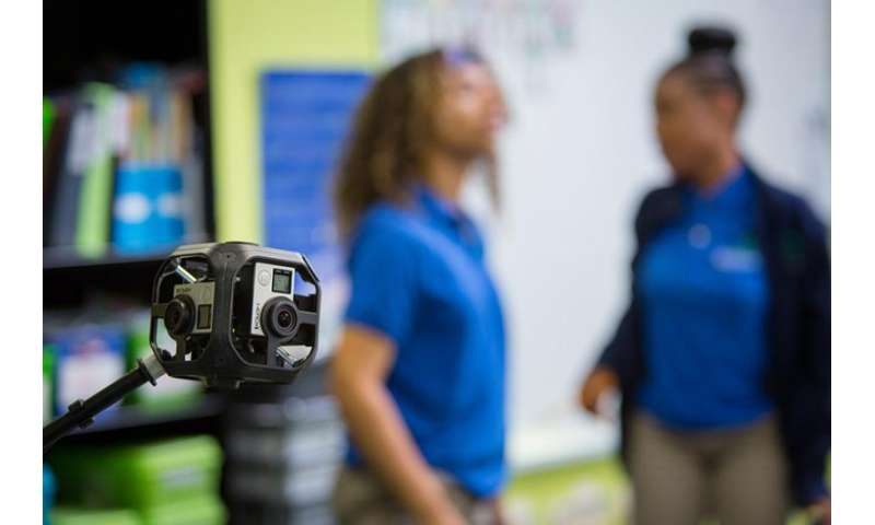 Virtual reality simulates classroom environment for aspiring teachers