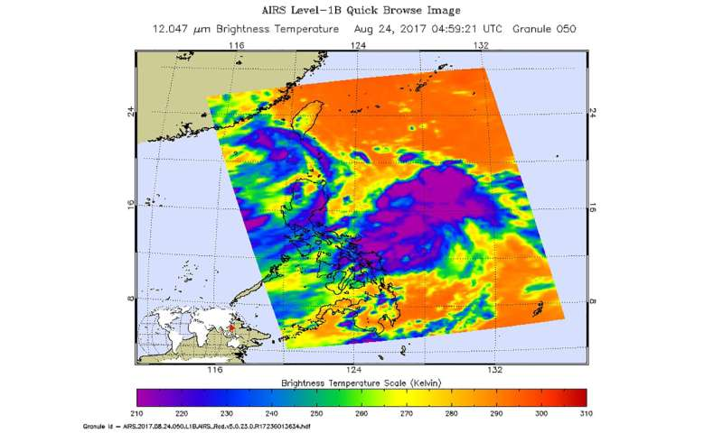 NASA satellite reveals formation of Philippine Sea Tropical Depression 16W