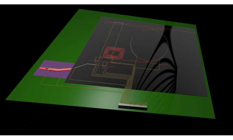 Research team develops record laser on chip