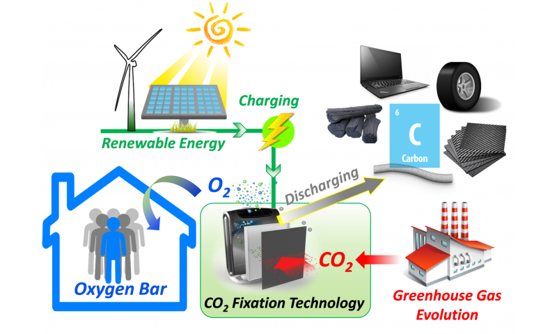 A battery-inspired strategy for carbon fixation