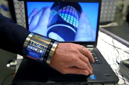 A flexible screen that fits the wrist is one way to make wearables more attractive