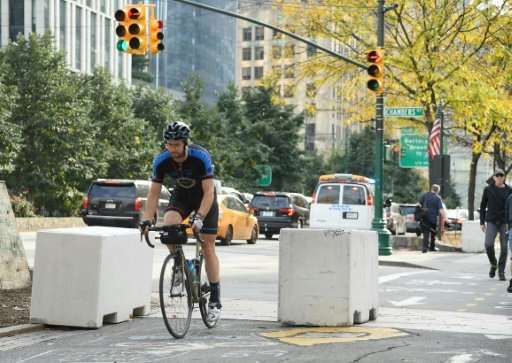 After the Halloween bike path attack in New York, cement barricades were placed along the West Side Highway bike path