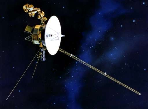 A message of goodwill is being sent to the Voyager spacecraft, seen here in an artist's rendition released by NASA, on the 40th