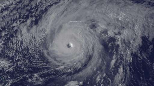 An average season produces 12 named storms of which six become hurricanes, such as Hurricane Nicole, seen here approaching Bermu