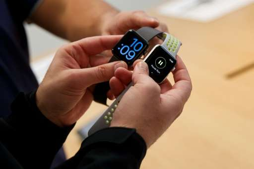A new survey shows Apple has vaulted to the lead in the market for wearable computing thanks to strong sales of its Apple Watch,