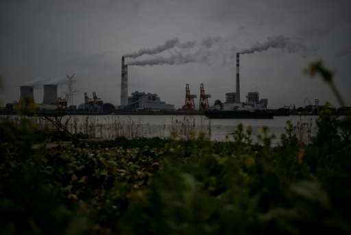 A power station on the Huangpu river near Shanghai - China is the world's largest emitter of greenhouse gases