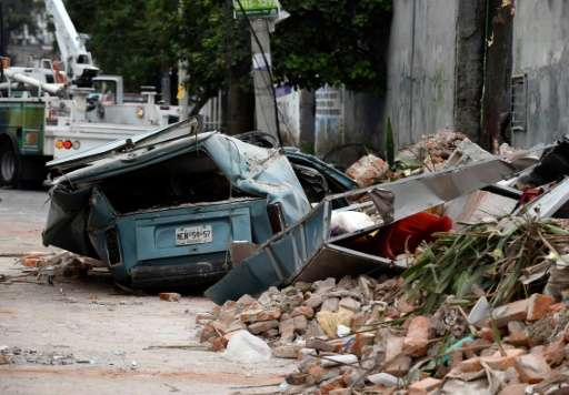 A street is seen in the eastern area of Mexico City after a 8,2 earthquake on September 8, 2017