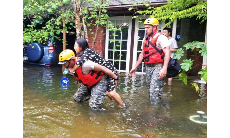 Be cautious going home after hurricane harvey