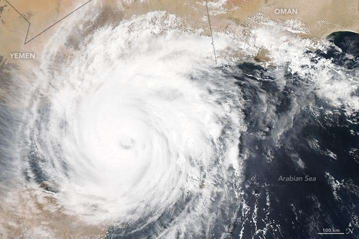 Birth of a storm in the Arabian Sea validates climate model