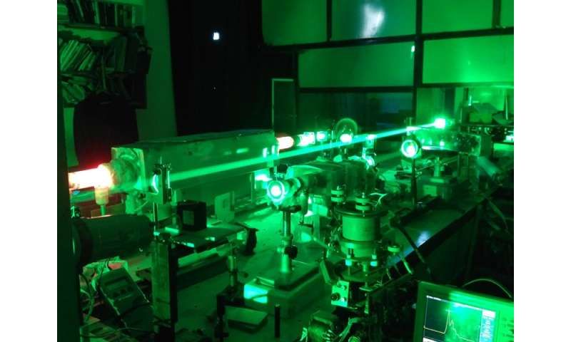 Bistatic laser monitor sees through fire