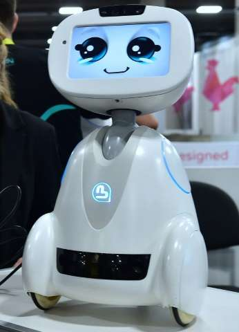 Buddy, the companion robot from Blue Frog, on display at the Consumer Electronics Show in Las Vegas, on January 5, 2017