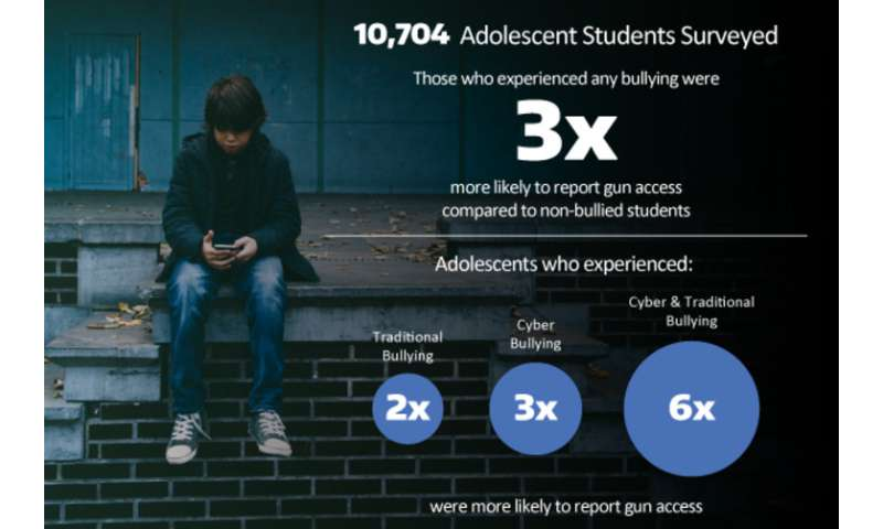 Bullied youth report access to loaded guns more than other youth
