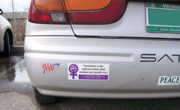 Bumper stickers make often impersonal highways a space for social interaction