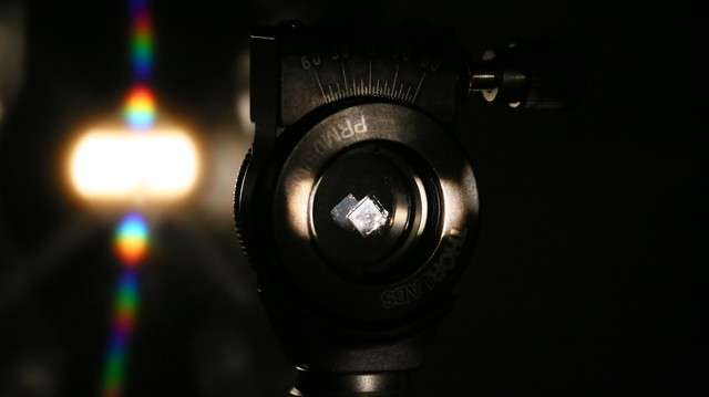 Carving diamonds for optical components