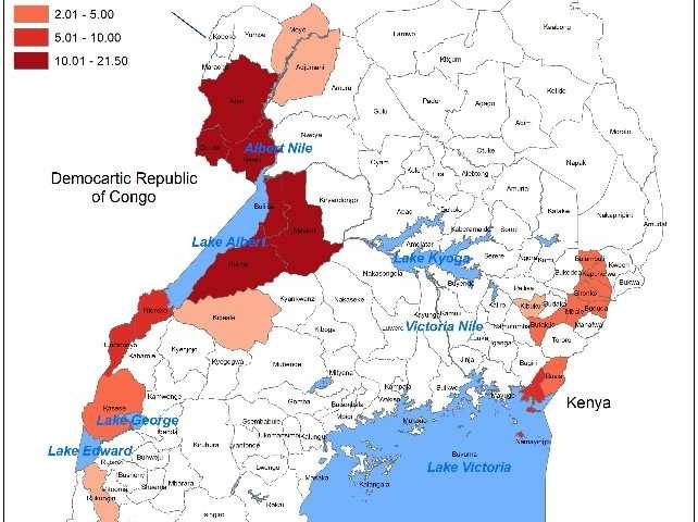Cholera hotspots found at Uganda's borders and lakes