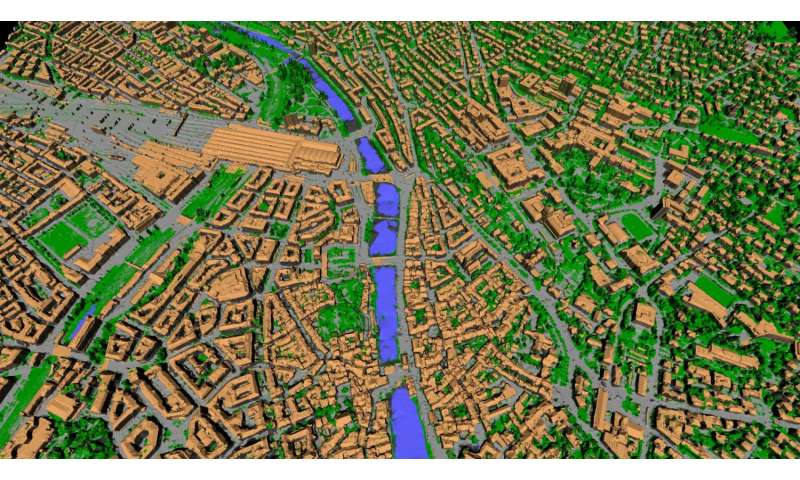 City model created from images alone