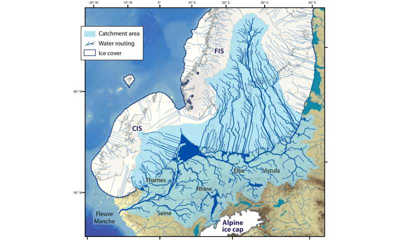 Collapse of the European ice sheet caused chaos