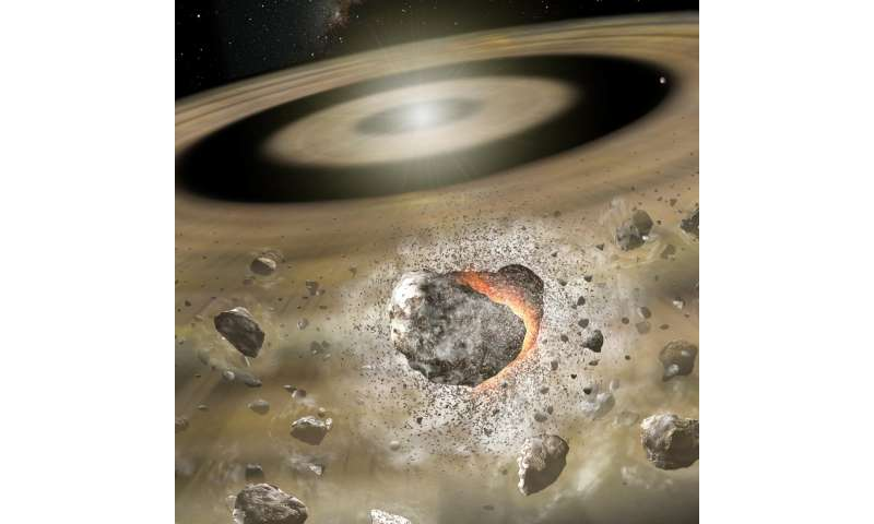 Collisions generate gas in debris disks