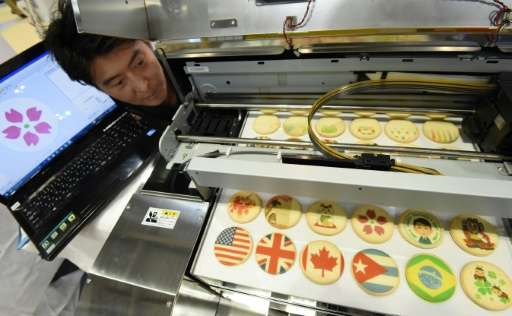 Cookie cuter: anything from flags to adorable characters can be printed on baked goods, using edible ink