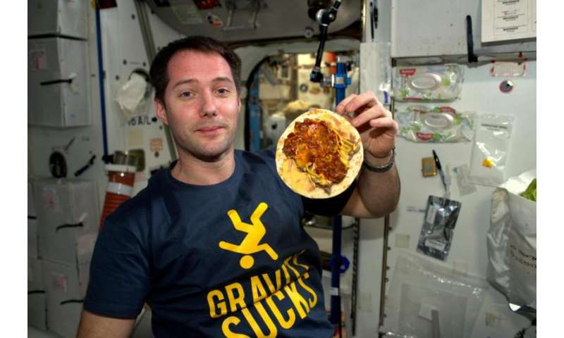 Counting calories in space