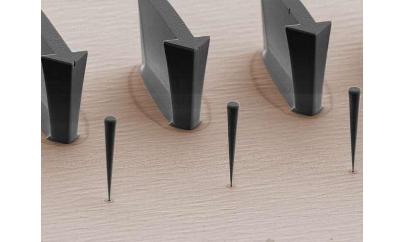 Coupling a nano-trumpet with a quantum dot enables precise position determination