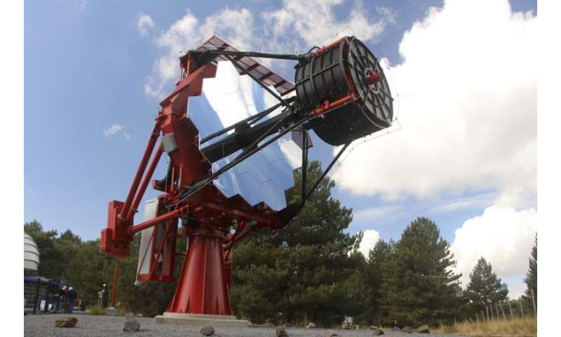 CTA prototype telescope, ASTRI, achieves first light