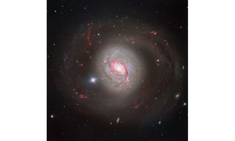 Dazzling spiral with an active heart